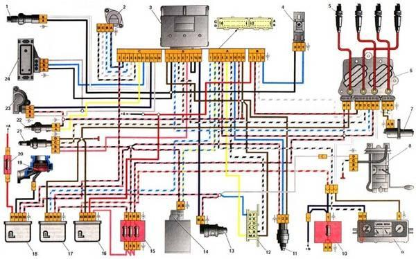 Система зажигания инжектор схема фото 376